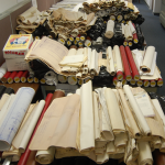 rolls of documents for scanning