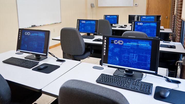 autodesk program on computers at Brandywine CAD
